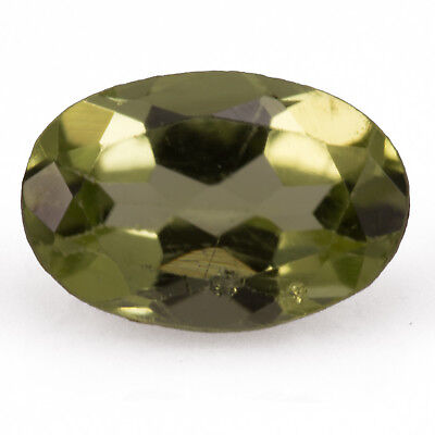 0.56 ct Peridot. An oval cut gemstone with vivid green colour.