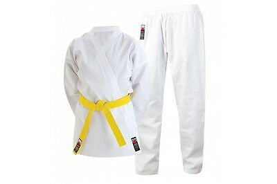 Cimac Karate Gi Suit 8oz Uniform Kids Adults White Childrens Boys Girls Mens New