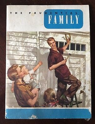 Vintage 1950's Prudential Insurance Family Booklet Mid Century Advertising