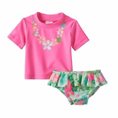 538b58ff4 CARTER'S Baby Girls' 18M, 24M Tropical Flower 2 Pc. Rashguard Swim Set NWT