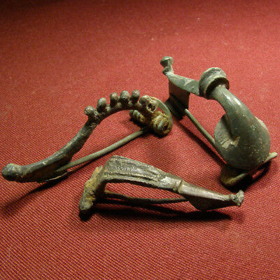 Lot of 3 Roman and Celtic Brooch / Fibula