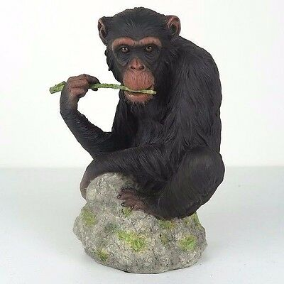 "Chimpanzee Chewing Branch - Detailed Figurine Miniature 7.25""H New in Box"