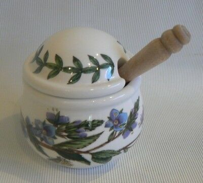 Portmeirion Botanic Garden, Mustard Pot with Spoon,