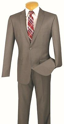 Men's Slim Fit Suit Single Breasted 2 Buttons Formal Wedding Prom Gray SC900-12