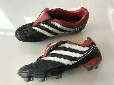 bb0766472 ... canada adidas predator precision sg football boots uk 7 rare antique  black red blades f63e9 04010