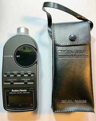 Radio-Shack Sound Level Meter, 33-2055 with Case. Excellent Condition