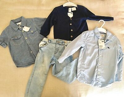 Boys Size 1 1/2 - 2 Bulk New Pumpkin Patch H&M Shirt, jumper Jeans