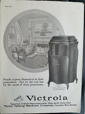 1923 Victor Talking Machine Co victrola no 130 vintage phonograph ad