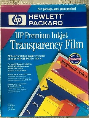 HP Premium Inkjet Transparency Film 50-Sheets C3834A  Open box never used