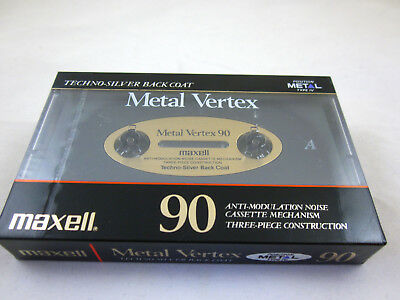 Maxell MV Metal Vertex 90 Reference Metal Tape C-90 Japan 1990 Neu New Sealed