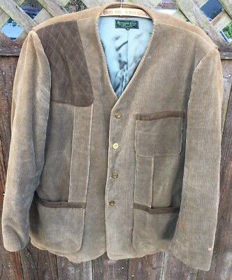 Vintage Abercrombie & Fitch Co. Shooting Hunting Jacket Field Pocket Game 44 L