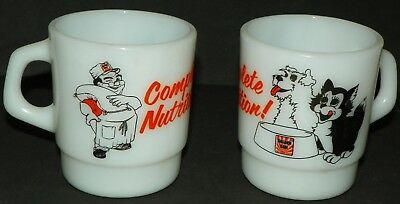 2 Vintage Golden Sun Feed Complete Nutrition Dog Cat Pet Food Coffee Mug Cup