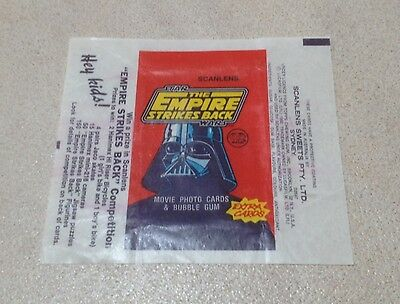 1980 Scanlens The Empire Strikes Back - Wax Pack Wrapper (Red)
