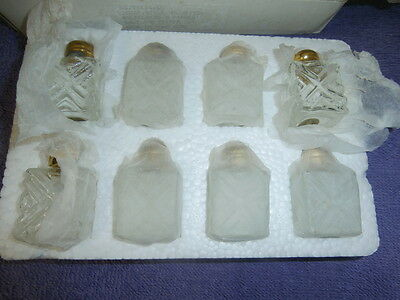 Lot: (8 pc.)  Vintage, Gold Plated Salt & Pepper Shakers