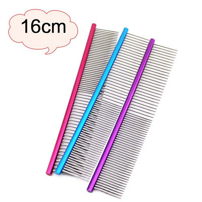 Safe Quality Pet Dog Comb Professional Steel Grooming Comb Cleaning Brush 16cm