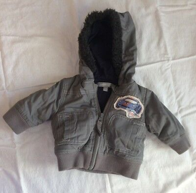 Pumpkin Patch Boys Thick Hooded Jacket Size 0-3 Months