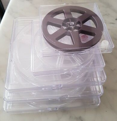 "Super 8 / Standard 8 empty Film Reels with cases - 2 x 5"" and 3 x 7"""