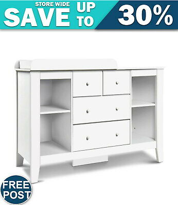Drawer Baby Chest Change Table Dresser Cabinet White FAST & FREE POSTAGE