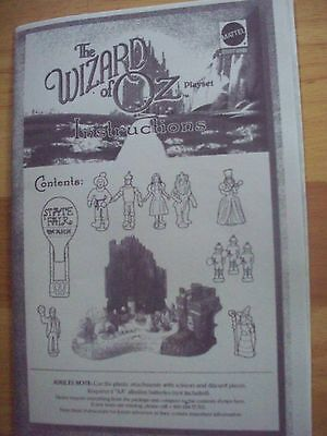 INSTRUCTIONS ONLY FOR A  Wizard of Oz Polly Pocket  Playset  2001