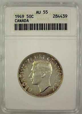 CANADA 1949 50c FIFTY CENTS ANACS AU55 - OLD HOLDER