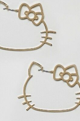 Hello Kitty X Asos Cut Out Hoop Earrings Valentine