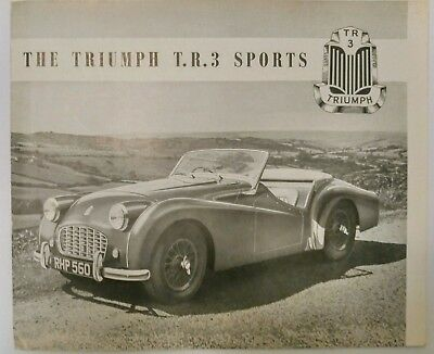 1955 Triumph Sports TR3 Original Sales Brochure Drum Brakes Standard Motor Co.