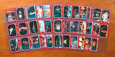 1979 Scanlens Buck Rogers Trading Cards - Near Complete Set (82/88 Cards)
