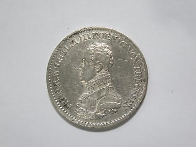 Germany Prussia 1818 A Thaler Wilhelm Silver Damaged World Coin Collection Lot
