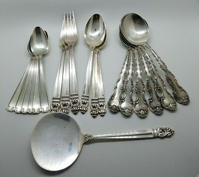 Sterling Silver Flatware Lot Royal Danish International Gorham Antique 1897 1913