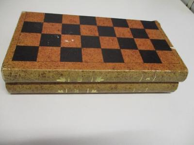Vintage Timber Travel Magnetic CHESS SET in Folding Book Balzac Case