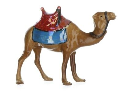 Hagen-Renaker Nativity Camel with Red Saddle Blue Blanket Made in USA