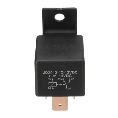 JD1912 Car Relay 12VDC 80A Brass Pin w/ Holder Hole Useful.US