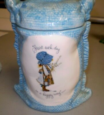 Holly Hobbie 1973 - Ceramic Canister Styled As A Sack