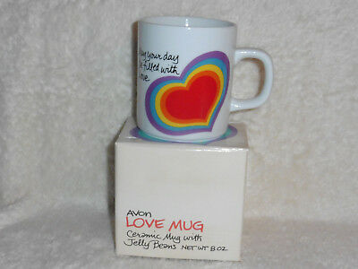 Vintage Avon Ceramic Love Mug from 1984, May Your Day Be Filled with Love