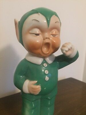 1930s SHELLEY MABEL LUCIE ATTWELL FIGURE OF 'BOO BOO' Art Deco Elf Fairy Pottery