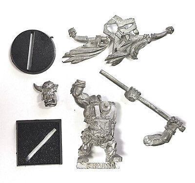 Orc & Goblin Black Orc Army Standard Bearer Limited Edition OOP Ironjawz (Metal)