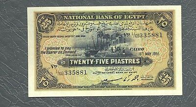 EGYPT the first issue of 25 piaster key ahmed zaky saed UNC