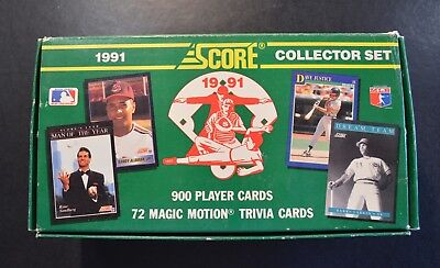 1991 Score Collector's Set in original box w/ Magic Motion Trivia