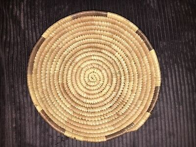 Woven Craft Native Bowl Basket Tan and Brown Container