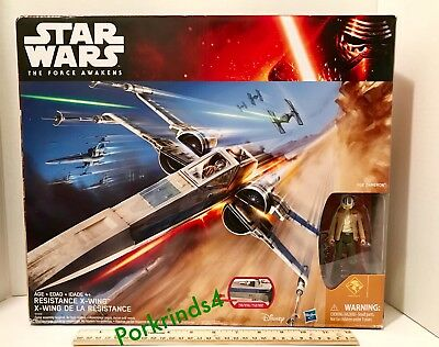 Star Wars The Force Awakens Resistance X-Wing Fighter with Poe Dameron NISB