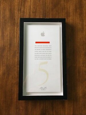 Steve Jobs Signature Apple Employee Five 5 Years Service Certificate Autograph