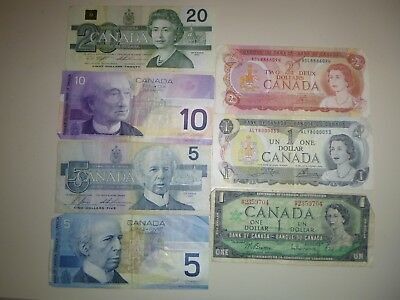 Lot of Canadian Paper Money  $44 Face Value