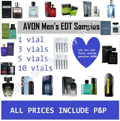 avon mens edt aftershave samples tester vials free pp