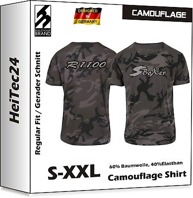 R1100S S Boxer Camouflage T-Shirt R 1200 R f. BMW Motorrad Fans Military Look