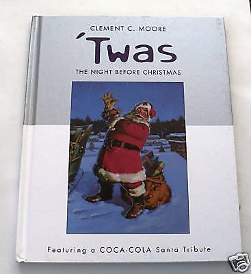 book COCA COLA Clement Moore The Night Before Christmas bk