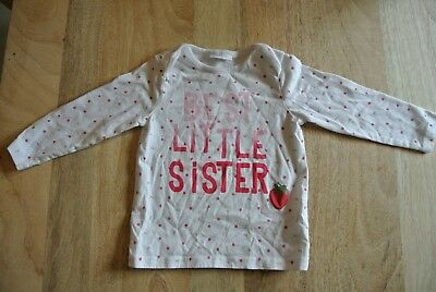 Next Baby 'Best Little Sister' girls top - 12-18 months - excellent condition