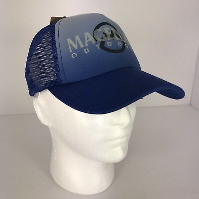 Magellan Outdoors Men s Hat Cap Trucker Blue Mesh Logo Glow in Dark Adjust  NWT 88518787f1e