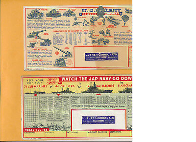 Wwii Ink Blotters Us Army Japanese Navy Little Rock Arkansas