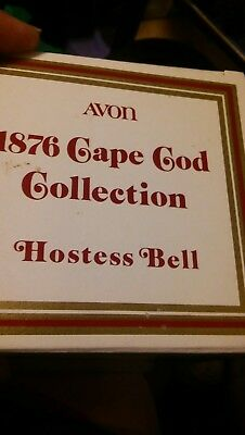 AVON 1876 CAPE COD COLLECTION RUBY RED HOSTESS BELL New in Box