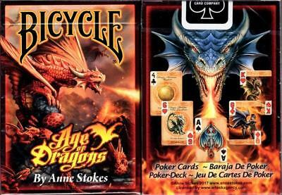 1 Deck Bicycle Anne Stokes Age Of Dragons Standard Poker Playing Cards New Box